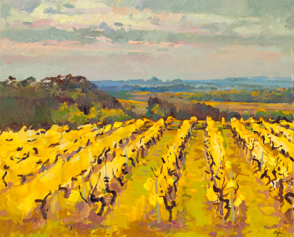 'Semillion, Labadie. Monbazillac A.O.C.' Oil. 81 x 65 cm. Sold