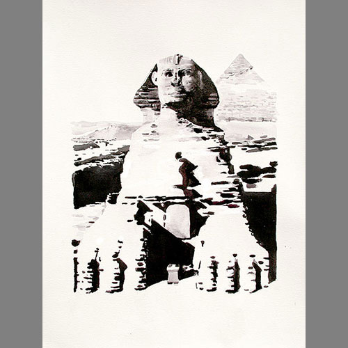 'The Great Sphinx of Gaza' 65 x 50 cm