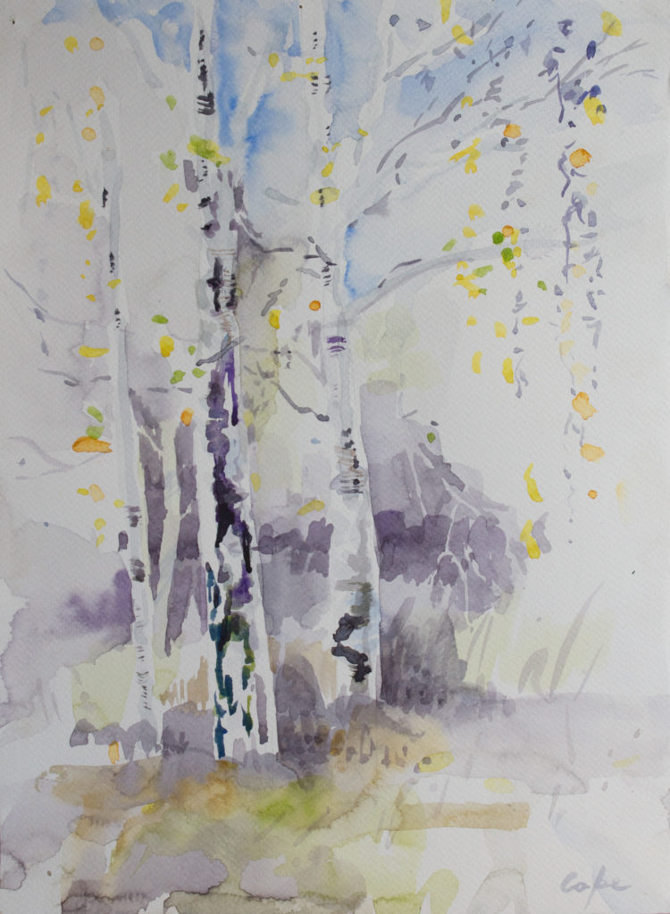 values,tonality, trees,watercolour,neutral tint,