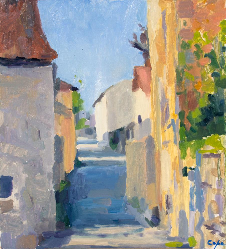 ste félix de villadiex dordogne 24 tableau paysage veille maisons en pierre old stone houses