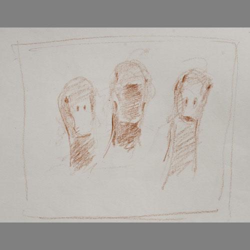'Three Ducks' Heads' Sanguine. A