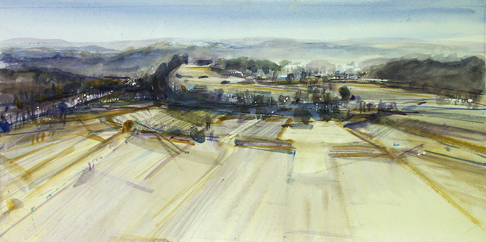Cingle,Tremolat, aquarelle,dordogne,adam Cope