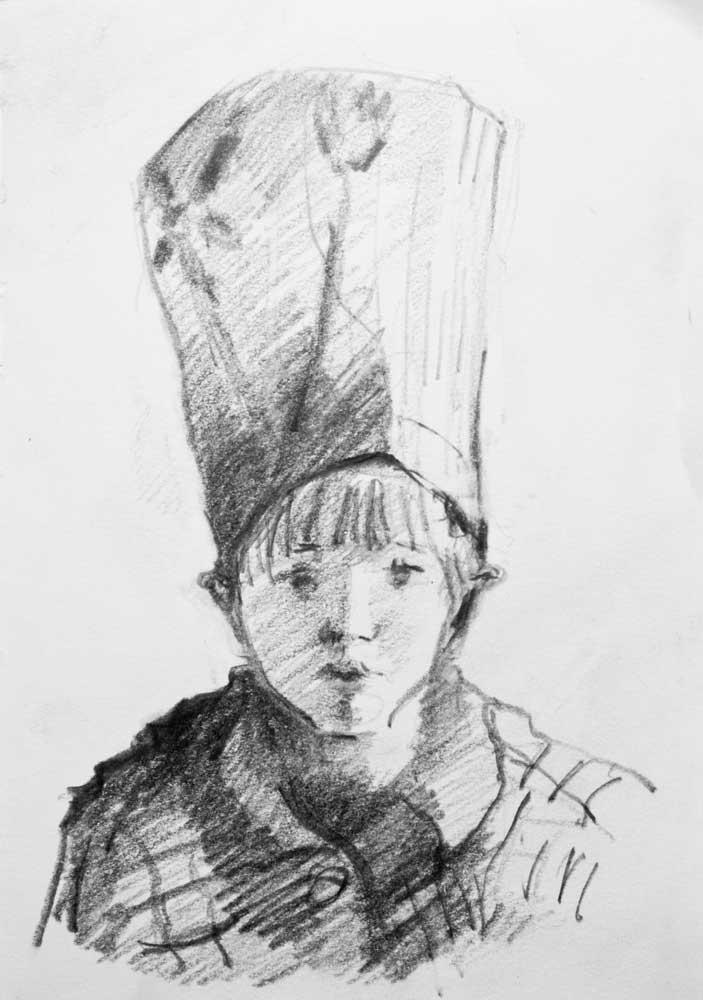 child, portrait, desei, portrait, hat, kermess
