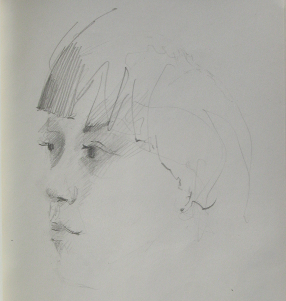 portrait, pencil sketch, portrait, attenive, intelligent youth,