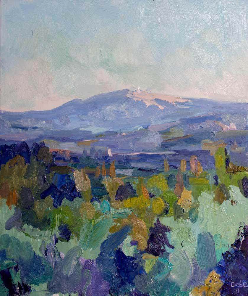 oil paintin,mont ventoux, provence, eygalieres, colourist
