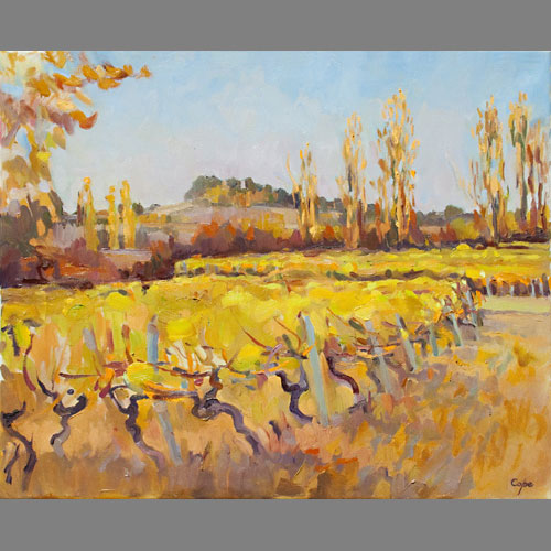 'Vignoble, Boisse, Bergerac A.O.C.' Oil. 65 x50 cm. Available