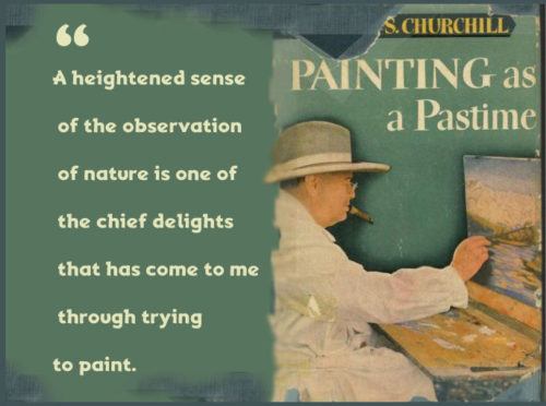 painting as a pastime churchill