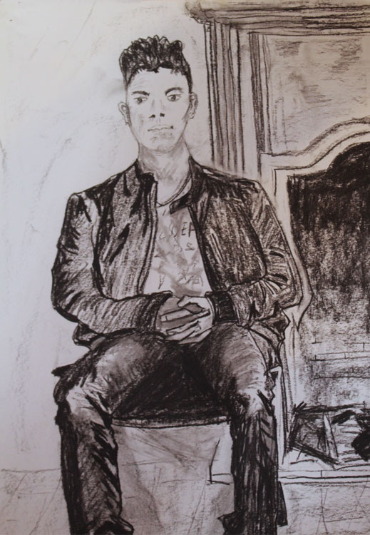 'Etienne' by Deb. Charcoal