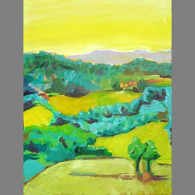'View from Beduer' - oil painting by Cara