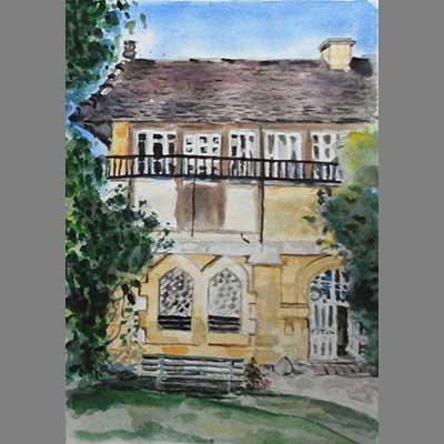 'La Chapelle' - watercolor by Gabrielle