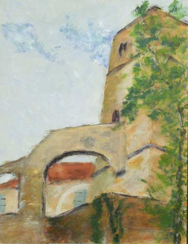 'Donjon, Chateau de Béuer' By John. Acrylic.