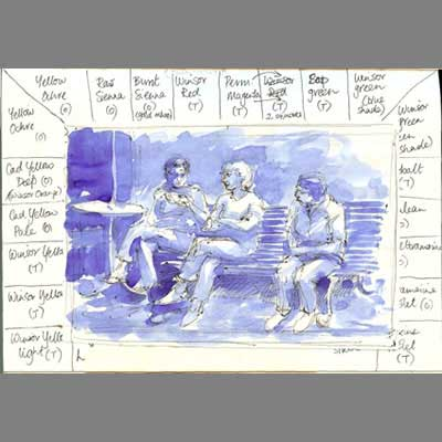 'palette & peple' sketchbook by Cathy