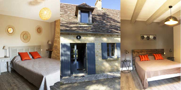 bedrooms, french holiday home