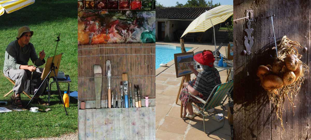 students painting, plzein-air painting, leraning t paint banner