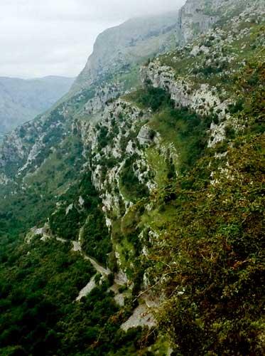 rocks, cliffs, hills, mists