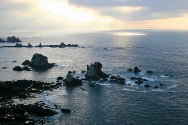 sunset, sea,rocks
