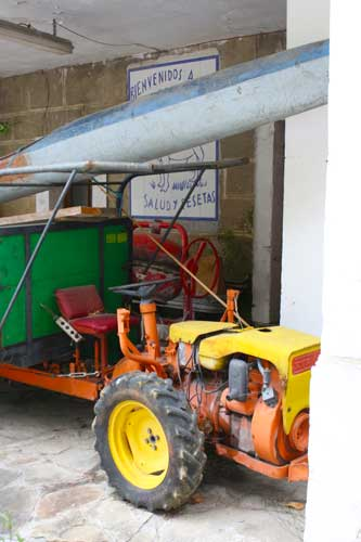 colourful tractor