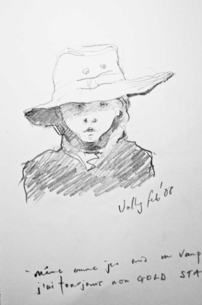 portrait, graphite, drawing,